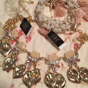 INC necklace and bracelet